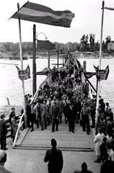 Közlekedés - A Manci híd átadása