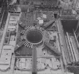 Ipar - Az épülő Paksi Atomerőmű 80 méter magasból