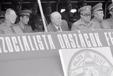 Fegyveres erők - Kádár János a Pajzs '79 hadgyakorlaton