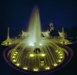 Városkép - A kivilágított Festetics-kastély