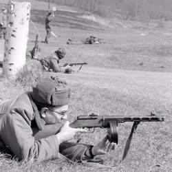 Honvédelem - Munkásőrök lőgyakorlata