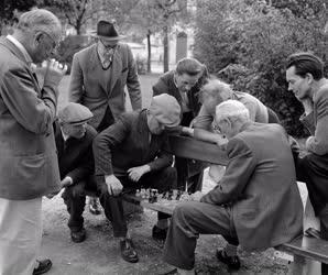 Szabadidő - Sakkozók a Köztársaság téren
