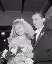 Sport - Család - Albert Flórián és Bársony Irén esküvője
