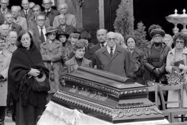 Temetés - Zelk Zoltán temetése