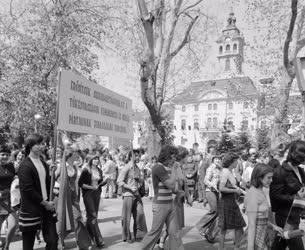 Belpolitika - Ünnep - Május 1-jei felvonulás Szegeden