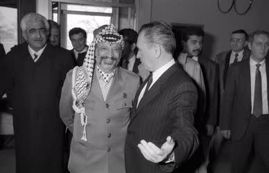 Külkapcsolat - Jasszer Arafat és Grósz Károly megbeszélése