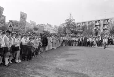 Külkapcsolat - Nagygyűlés a Hanoi parkban
