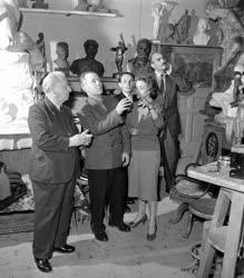 Külkapcsolat - Szovjet képzőművész küldöttség Budapesten